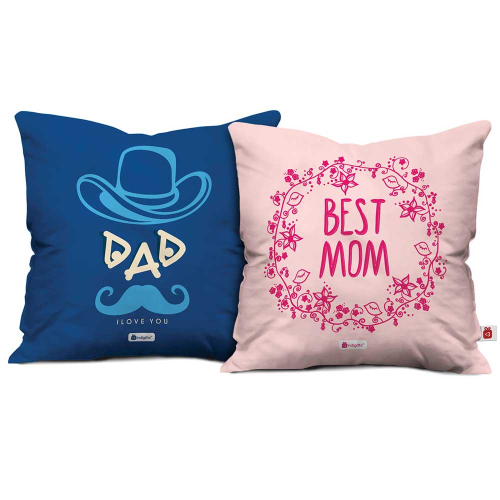 Best Mom And Dad I Love You Cushion Cover Set Of 2