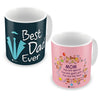 Mom Special God's Gift & Best Dad Ever Coffee Mugs