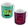 I Love You Maa & Best Papa Coffee Mugs