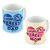 World's Best Mom & Dad Coffee Mugs