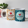 Grandpa and Grandma I Love You Ceramic Set of 2 Coffee Mug