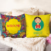 Welcome and Namaste Set of 2 Cushion Covers