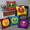 Welcome Gesture by Woman Set of 5 Cushion Covers