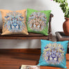 Lion Head Colorful Artwork Set of 3 Cushion Covers