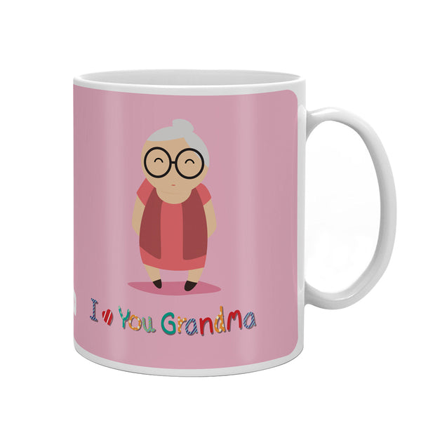 Cute Grandma Portray Pink Coffee Mug