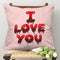 Indigifts Melting Love Pink Cushion Cover