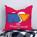 Indigifts Sexy Shorts & Panty Coupled Pink Cushion Cover