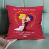 Indigifts Newlywed Holding Each Other In Love Red Cushion Cover