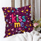 Indigifts Scattered Randomize Pattern Of Love Symbols Purple Cushion Cover