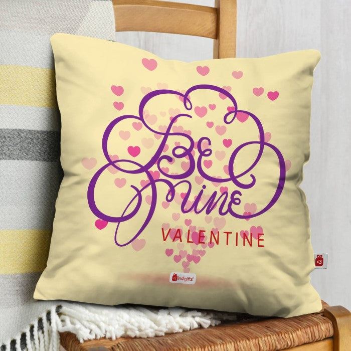 Indigifts Floating Hearts Beige Cushion Cover