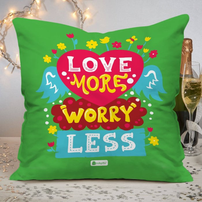 Indigifts Pop Art Floral Heart Of Wings Green Cushion Cover