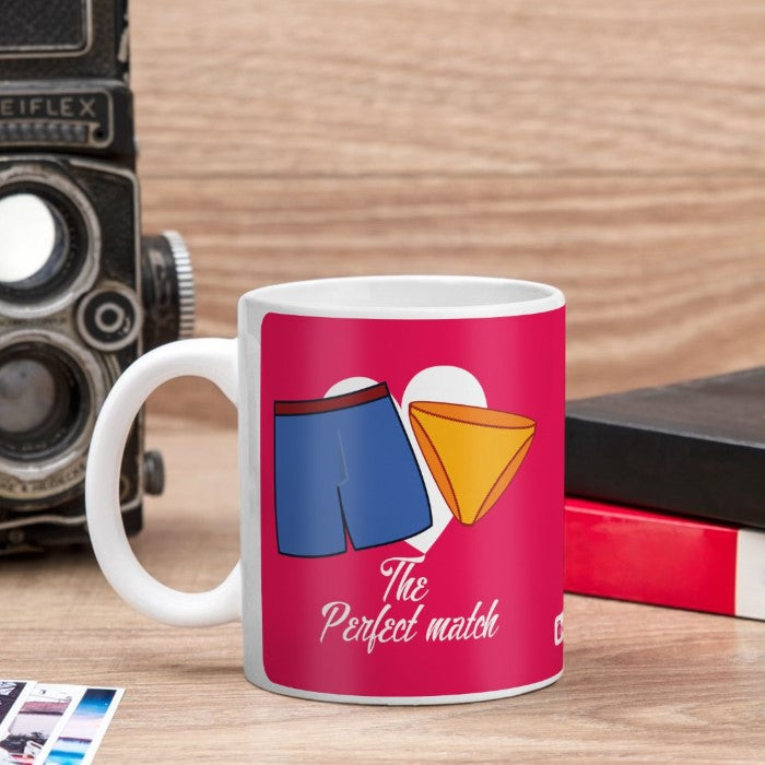 Indigifts Sexy Shorts & Panty Coupled Pink Coffee Mug