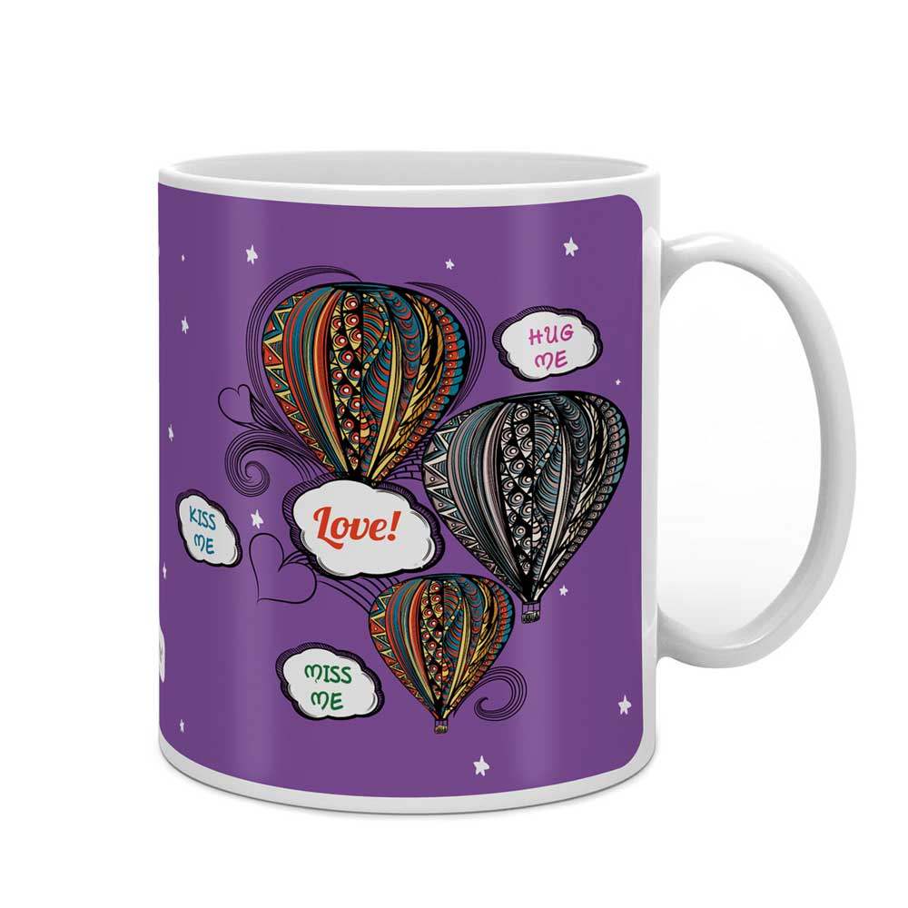 Indigifts Love Messages In Retro Style Blue Coffee Mug