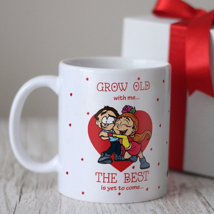 Indigifts Young Couple In Love White Coffee Mug