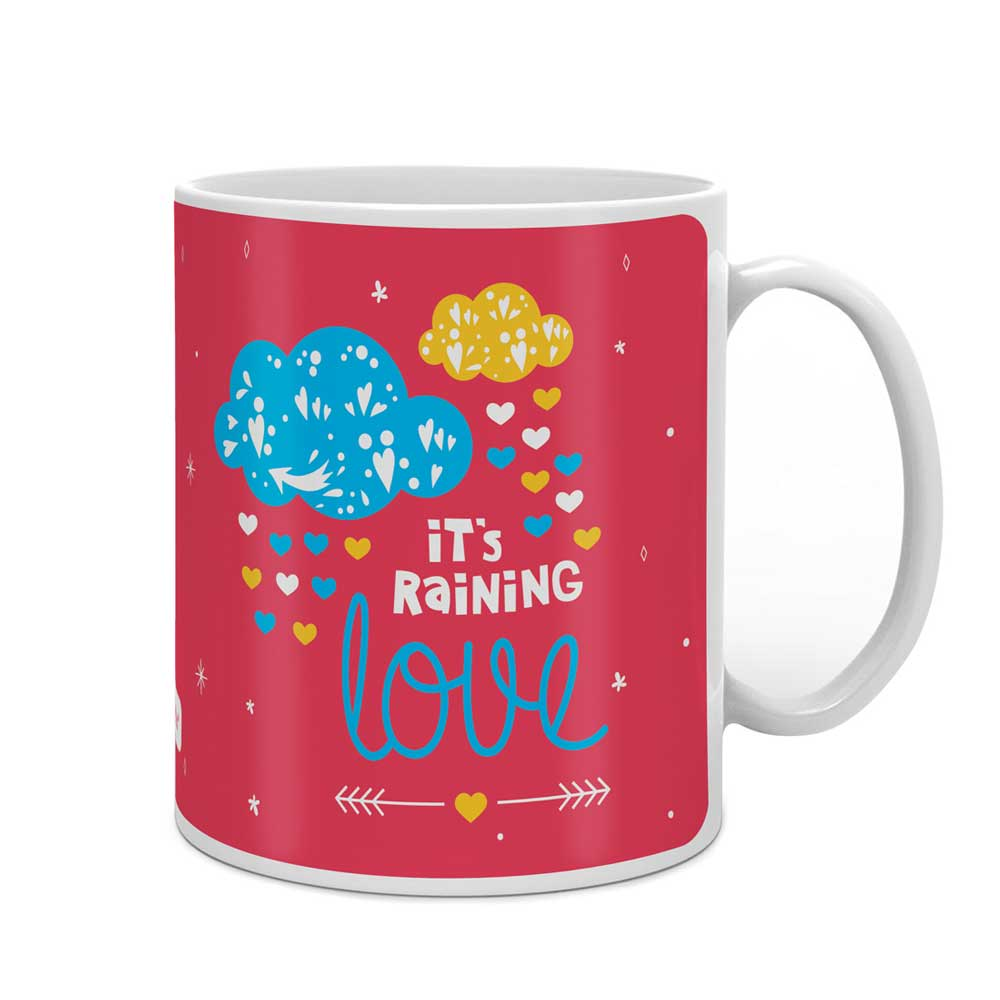 Rain of Love Pink Coffee Mug