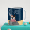 Indigifts Newly Weds Happy Married Couple On a Ride Blue Coffee Mug