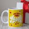 Indigifts You Make Me Happy Quote Yellow Coffee Mug