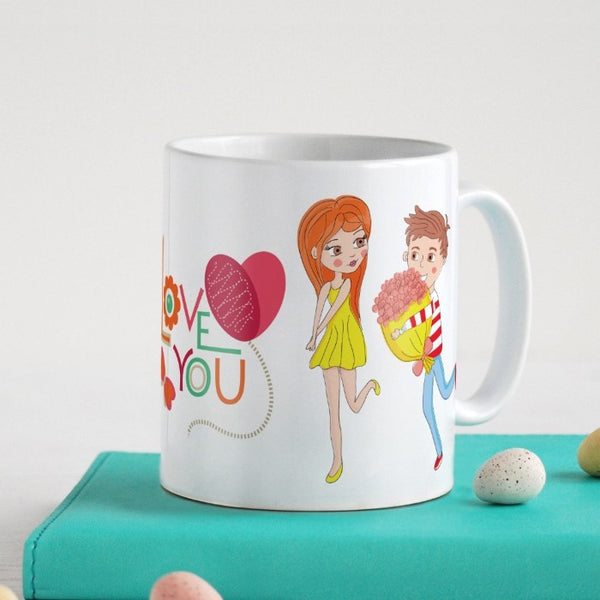 Indigifts Young Guy Proposing His Love White Coffee Mug