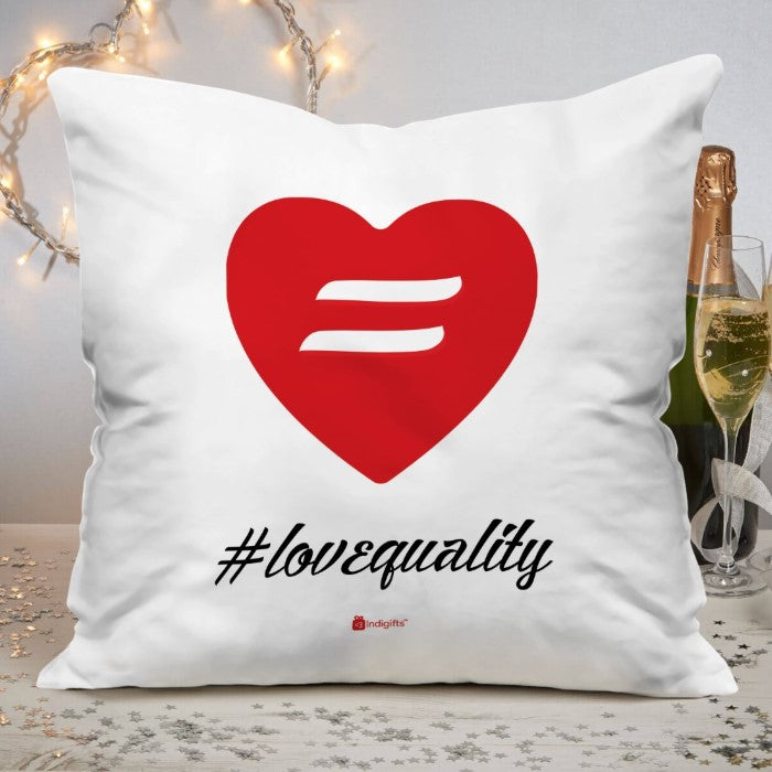 Indigifts Symbolic Expression White Cushion Cover