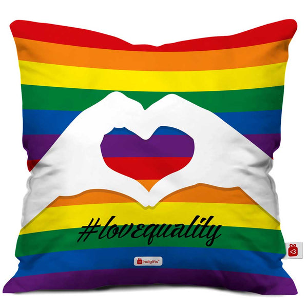 Colourful Rainbow Multi Cushion Cover
