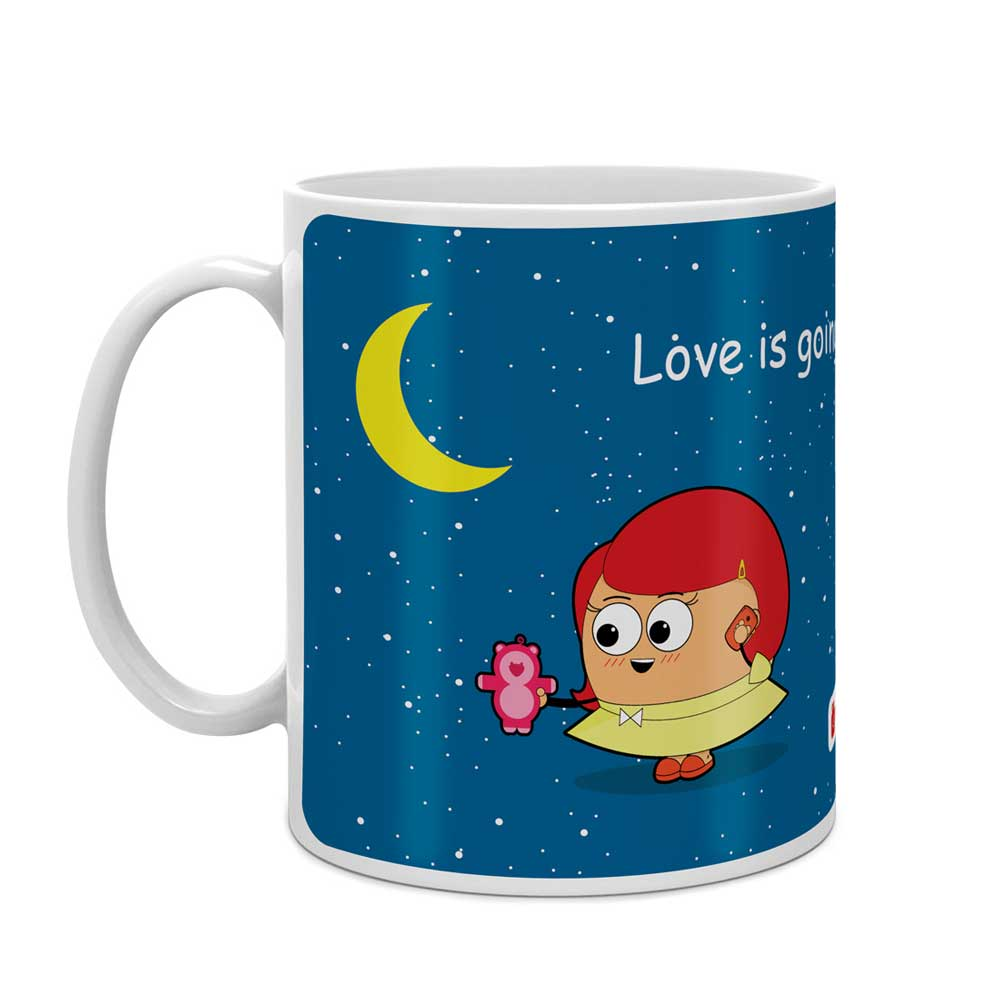 Indigifts Long Distance Couple Multi Coffee Mug
