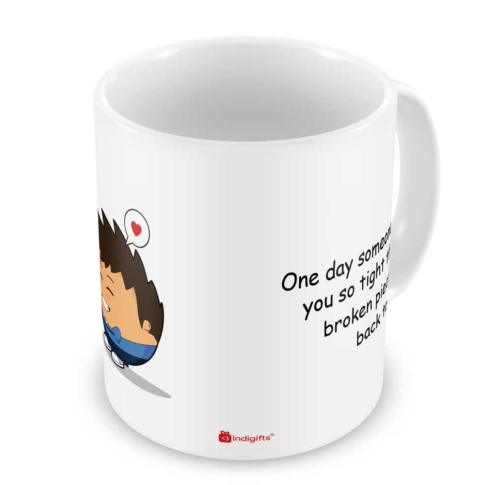 Indigifts Friendly Gesture between lovely Couple White Coffee Mug