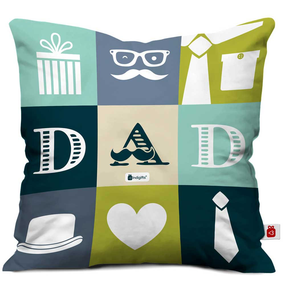 Indigifts Dad Quote Fatherly Things Multicolor Cushion Cover