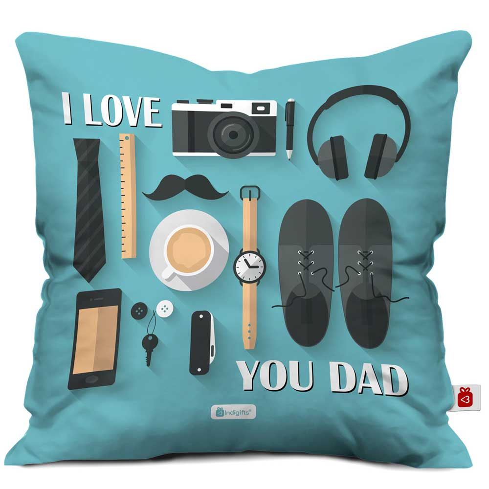 Love You Dad Quote Father Thing Blue Cushion Cover