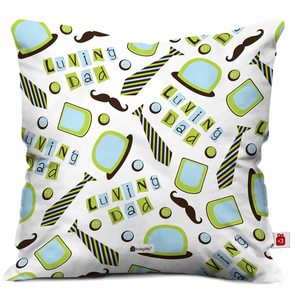 Loving Dad Quote White Cushion Cover