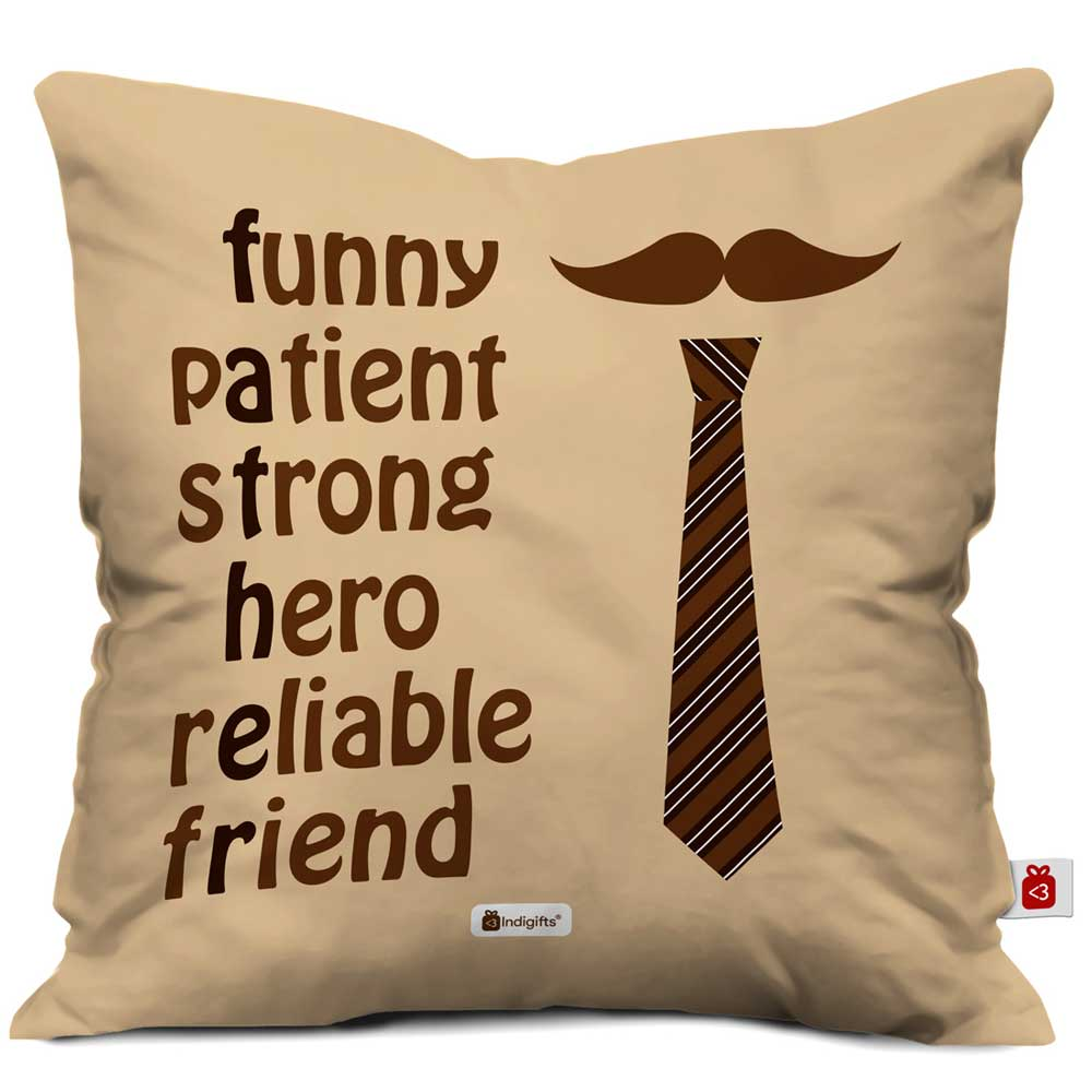 Dad Love Quote Brown Cushion Cover