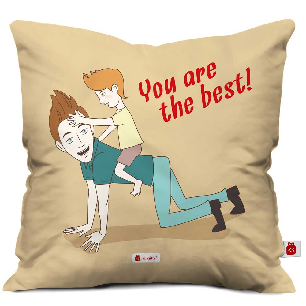 You Are The Best Quote Brown Cushion Cover