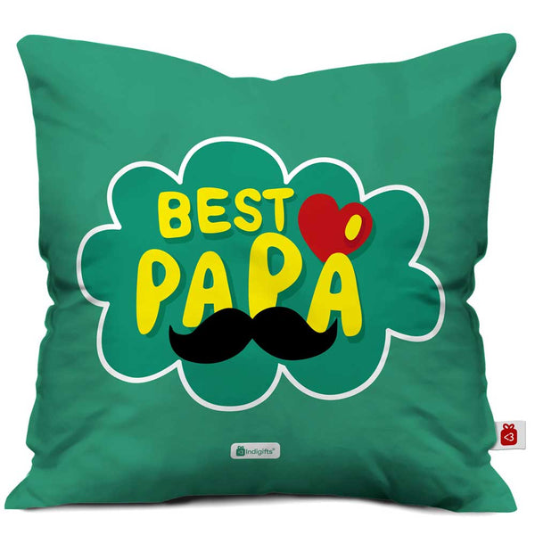 Best Papa Quote Green Cushion Cover