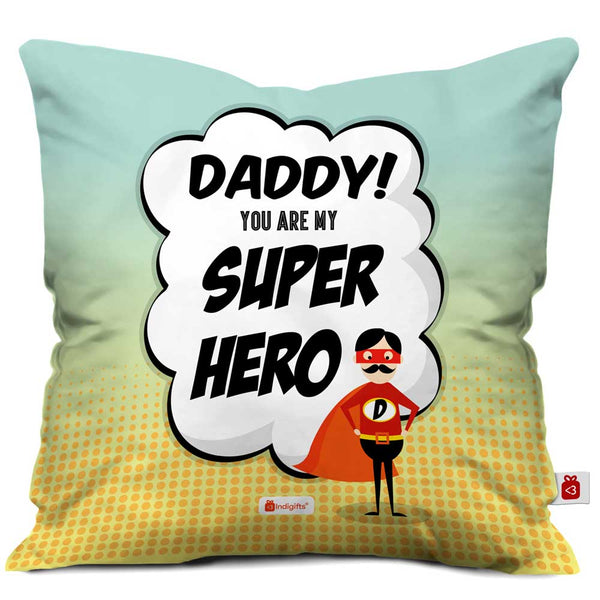 Super Hero Dad Quote Multi Cushion Cover