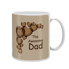 The Awesome Dad Quote Beige Coffee Mug