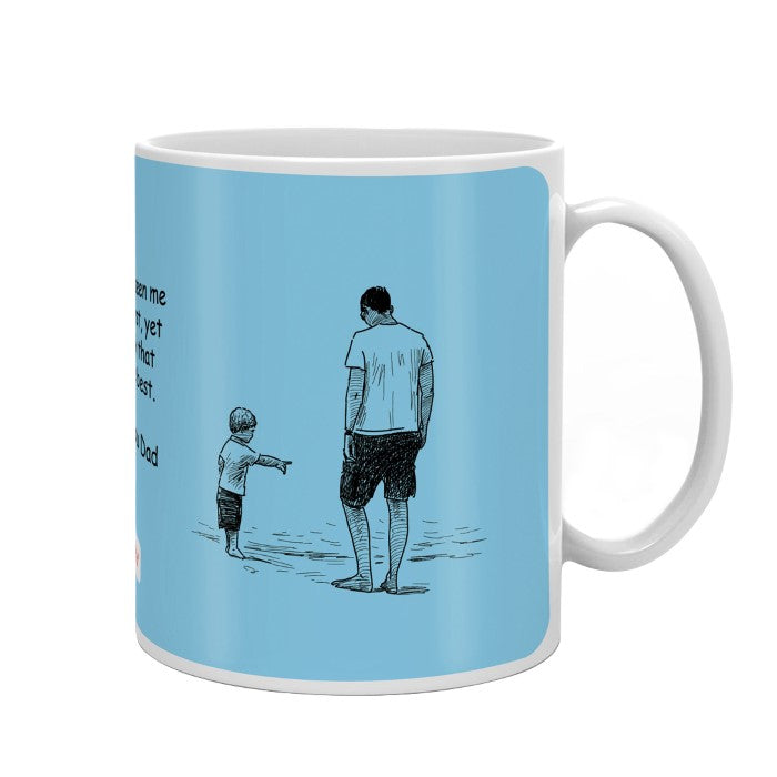 Love You Dad Quote Blue Coffee Mug