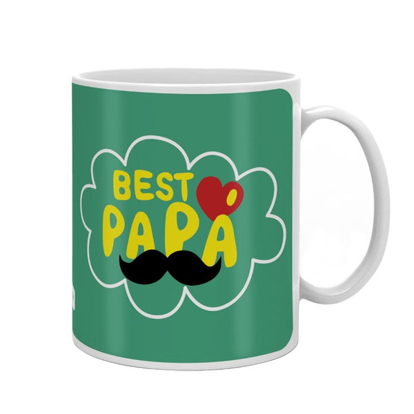 Best Papa Quote Green Coffee Mug