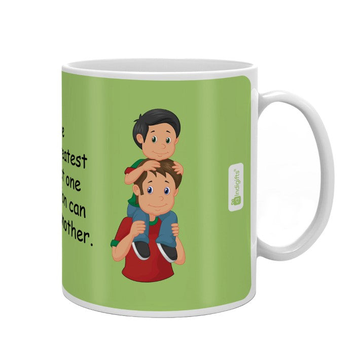 Love is the Greatest Gift Quote Father Son Love Green Coffee Mug