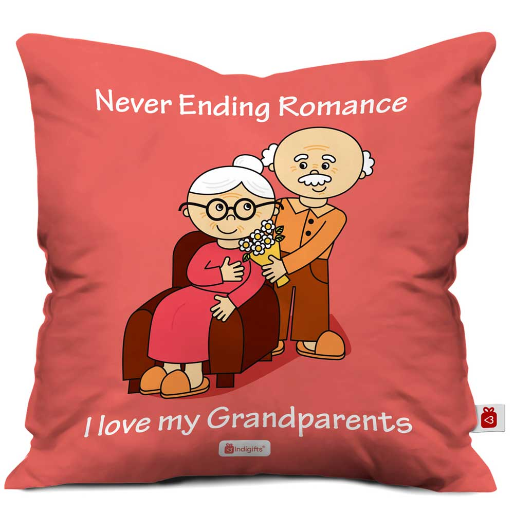 Indigifts Never Ending Romance Pink Cushion Cover