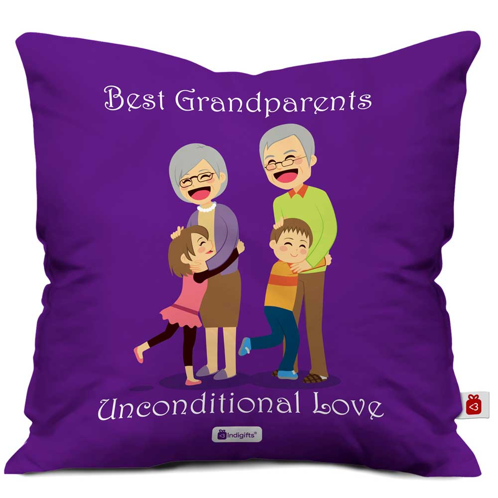 Indigifts Unconditional Love Violet Cushion Cover