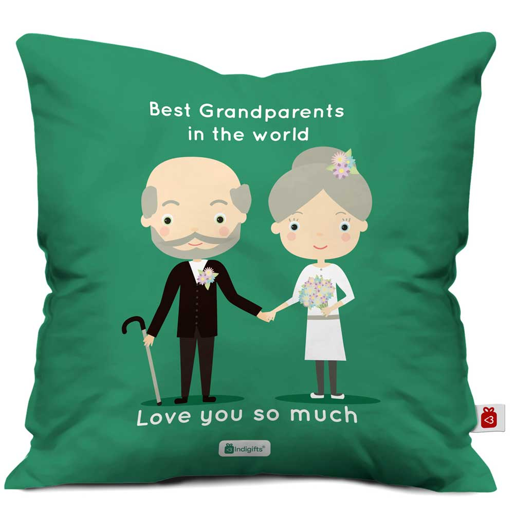 I Love You So Much Green Cushion Cover