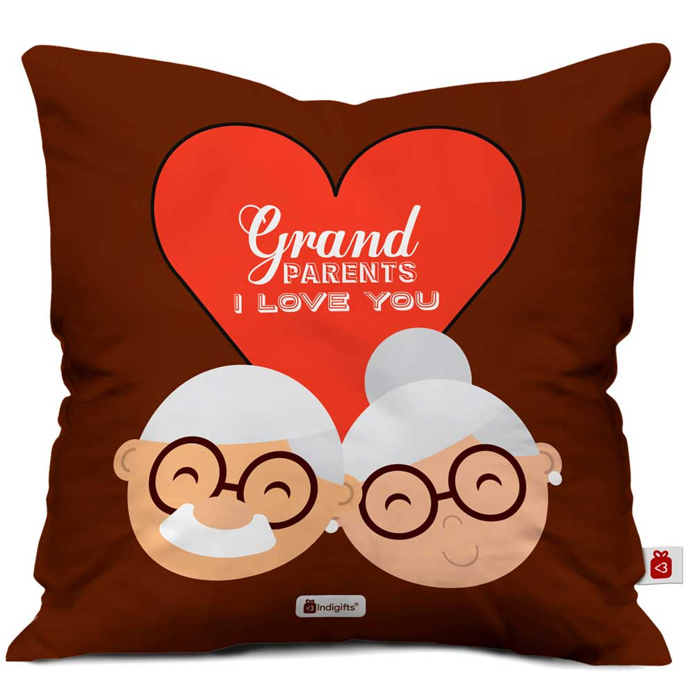 I Love You Brown Cushion Cover