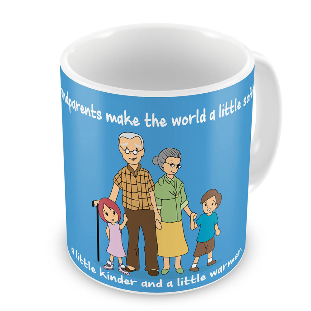 Soft Kind Warm World Blue Coffee Mug