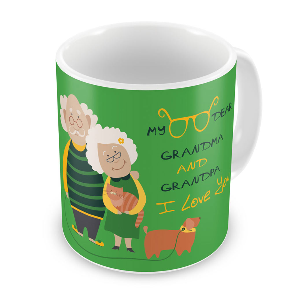 I Love You Green Coffee Mug