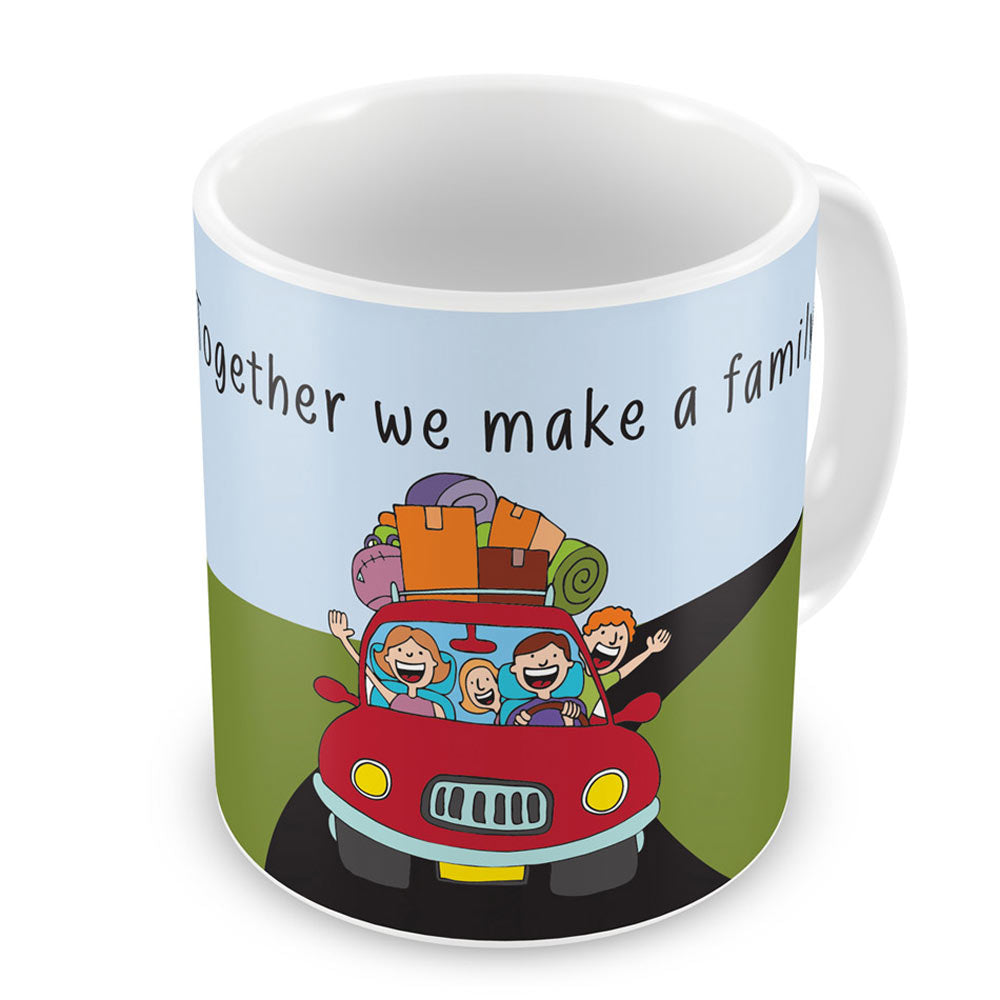 Indigifts Together We Make Family Blue Green Coffee Mug