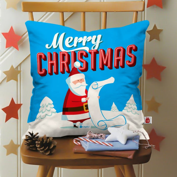 Santa Reading His Wish List Cushion