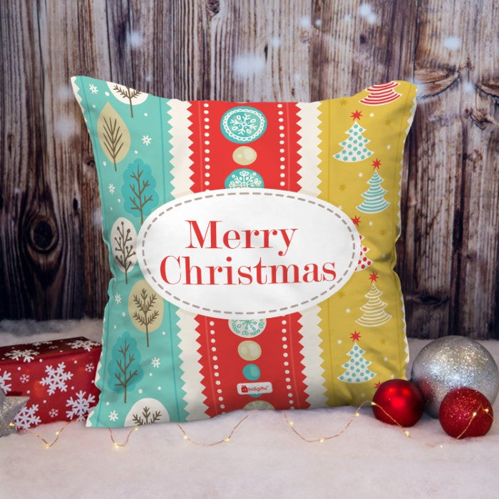 Indigifts Colorful Strip Design Based On Festival Theme Cushion