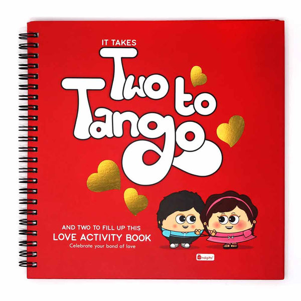 Love Two To Tango Red Hard Bound 8x8 inches Activity Book