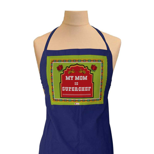 Gift for Mom - Ethnic Indiana Artwork Blue Apron