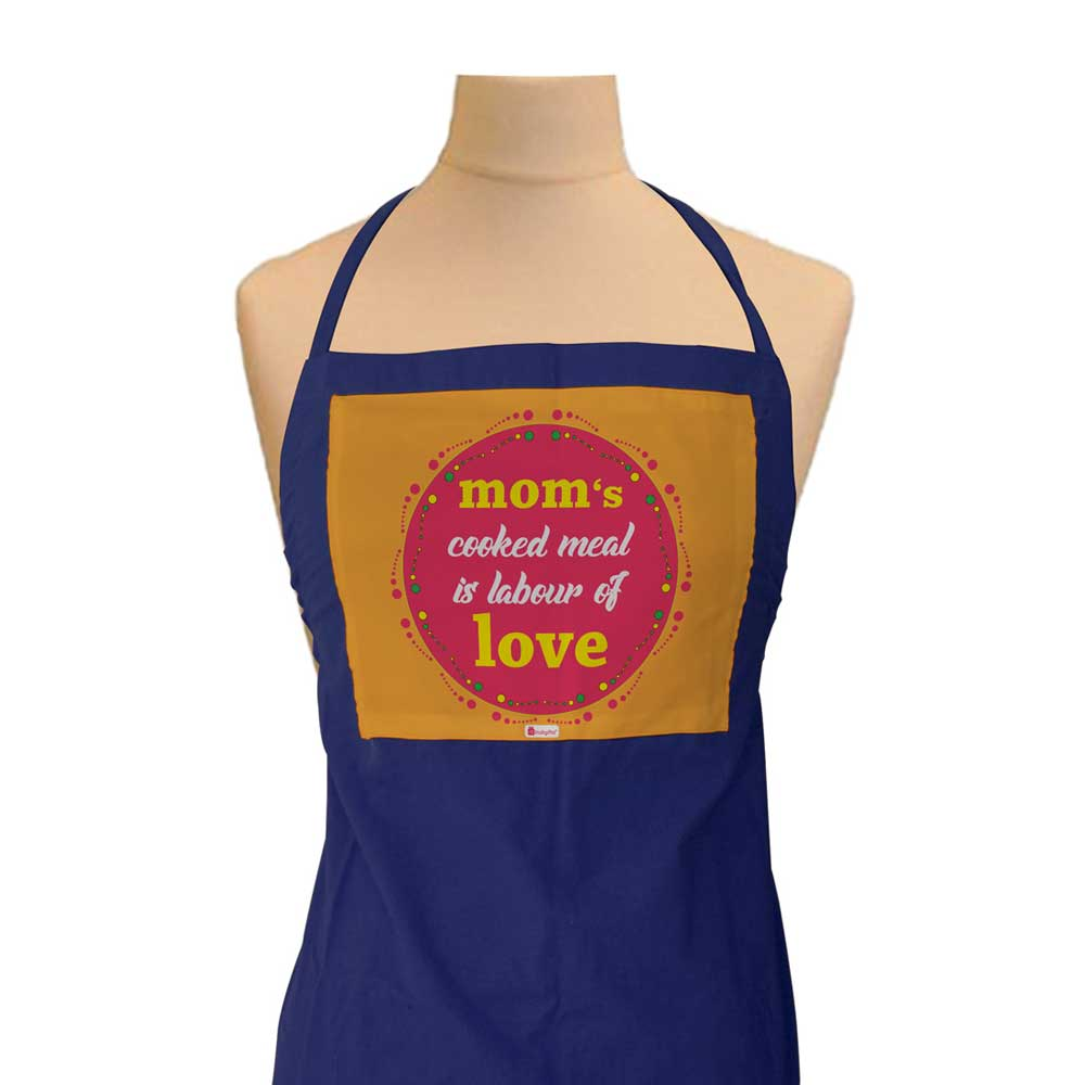 Indigifts Gift for Mom - Mom Cooked Meal Is Labour Of Love Quote Blue Apron