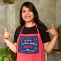 Indigifts The Secret Ingredient Is Always Love Quote Pink Apron